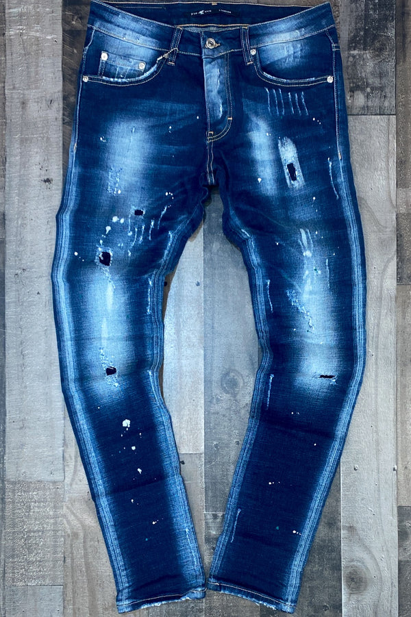 7th hvn- paint splattered denim jeans