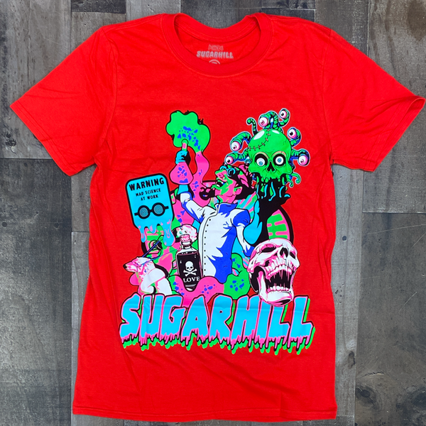 Sugarhill- mad scientist ss tee (red)