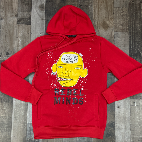 Rebel minds- peace of mind hoodie (red)