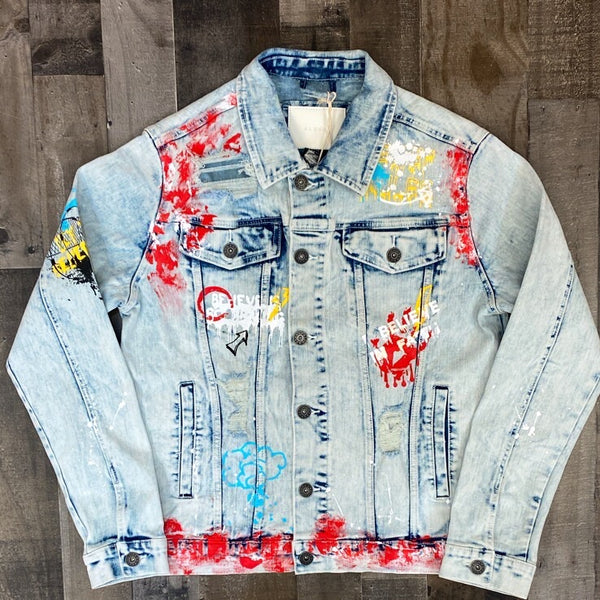 Kloud 9- believe in faith jean jacket