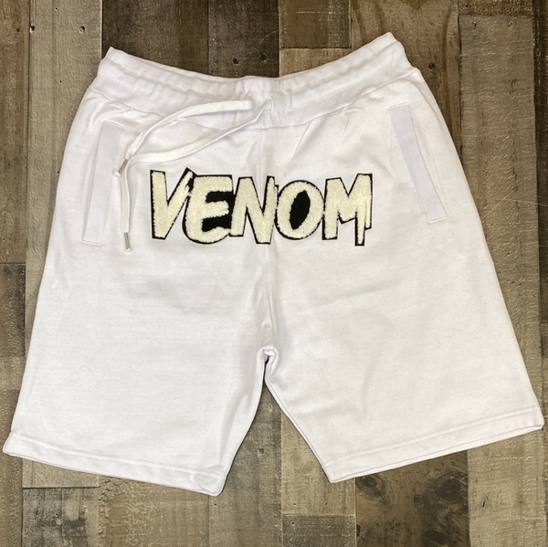Rawyalty- venom shorts (white)