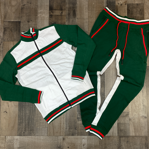 Jordan Craig- color block sweatsuit