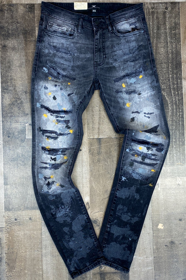 Jordan Craig- black shadow painted jeans