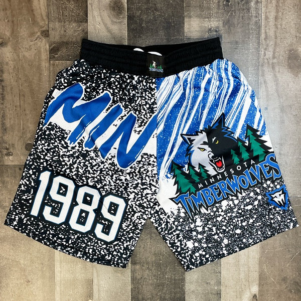 Mitchell & Ness- timberwolves nba shorts