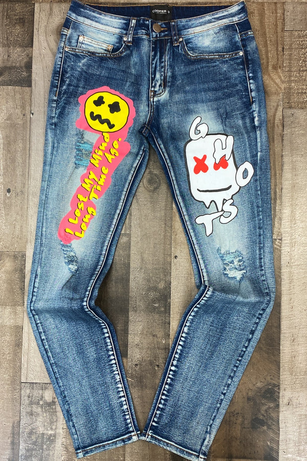 Cooper 9- ghost graphic jeans