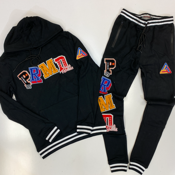 Black pyramid- varsity collection sweatsuit