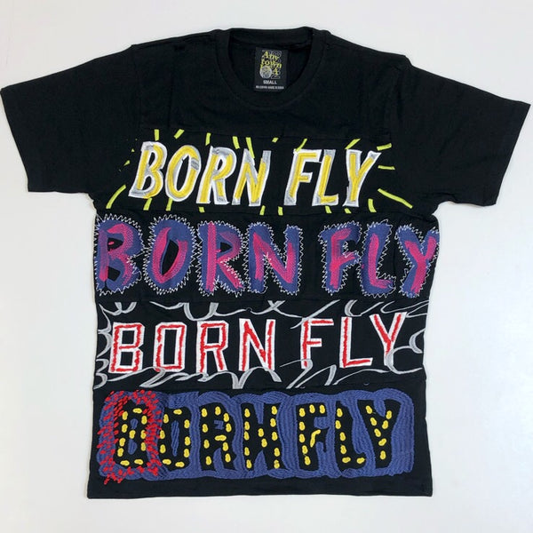 Born fly- multi logo ss tee