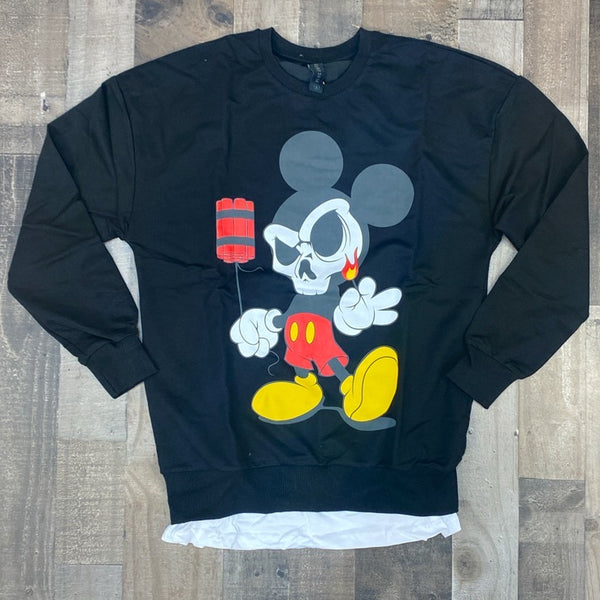 Plus Eighteen- mickey dynamite sweater (black)
