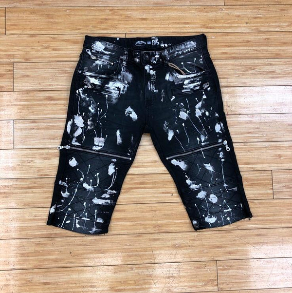LAGUNA BEACH - BLACK W/SILVER FOIL SHORTS