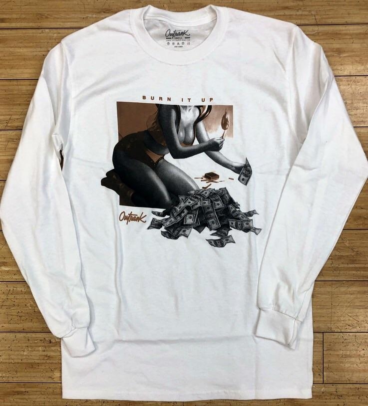 Outrank- burn it up ls tee