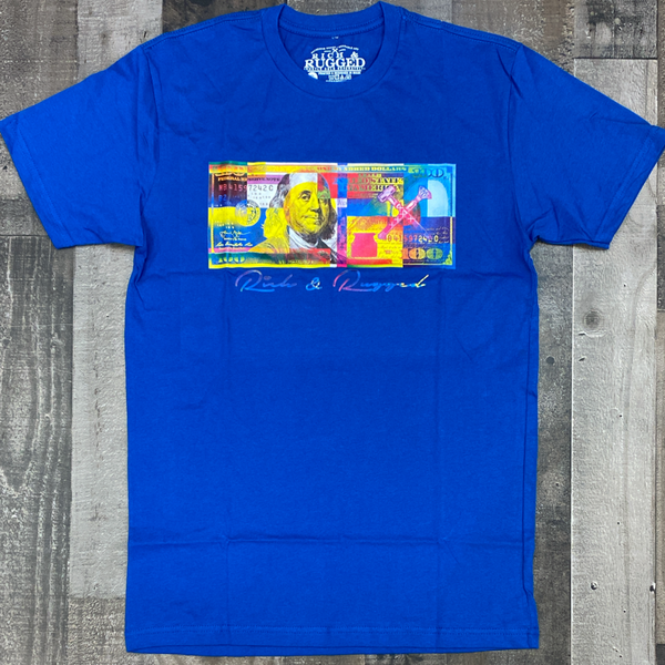 Rich & Rugged- color money ss tee (blue)