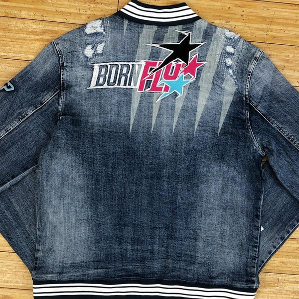 Born fly -pok denim jacket