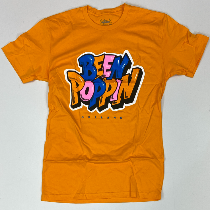 Outrank- been poppin ss tee (yellow)