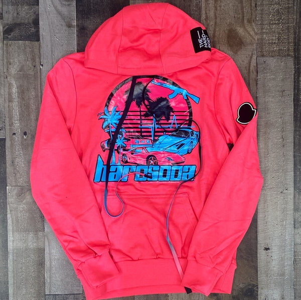 Hard Soda- take me there hoodie (hot pink)