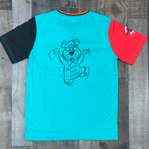 Elite- be humble ss tee turquoise/white (kids)