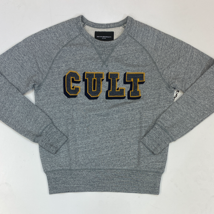 Cult Of Individuality- crewneck fleece w/collegiate font