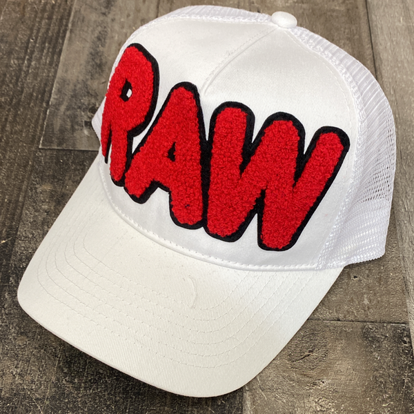 Rawyalty- raw bubble chenille patch hat