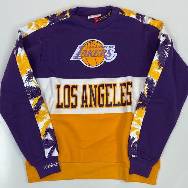 Mitchell & Ness- leading scorer fleece crew Los Angeles Lakers