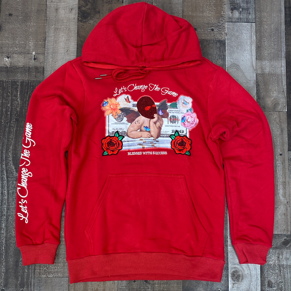 Camp- Angel W/ Rhinestone hoodie (red)