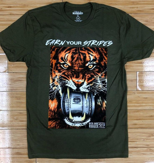 Rich & Rugged- earn your stripes ss tee