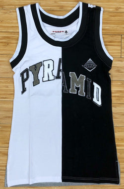 Black pyramid- varsity split basketball dress (women)