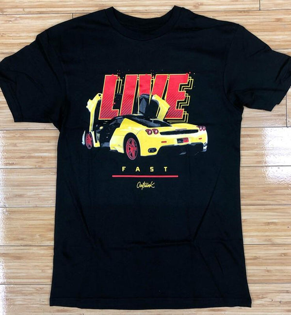 Outrank- live fast ss tee