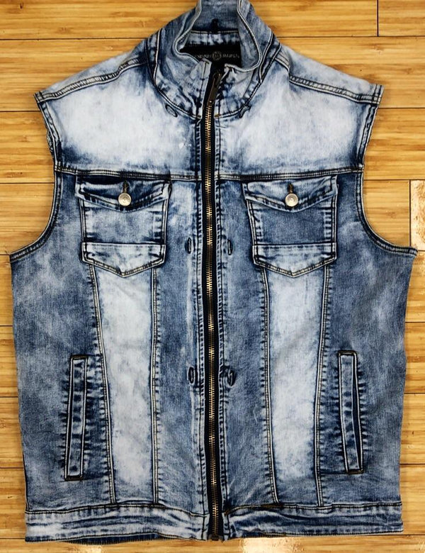 Rawyalty- raw moto denim vest