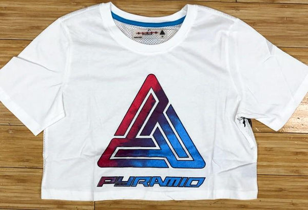 Black pyramid- ombré logo crop tee (women)