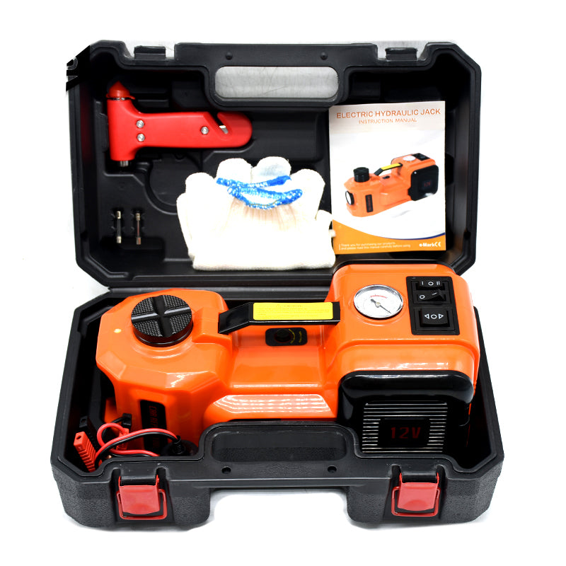 3 Function 5T 36CM Lift Car Electric Jack /& Impact Wrench /& Air compressor Sets