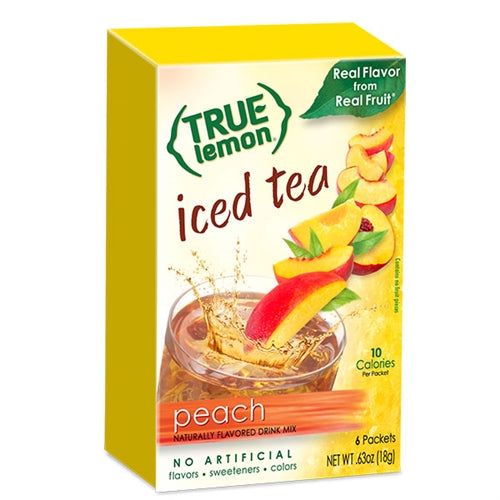 True Lemon Peach Iced Tea 6-Count