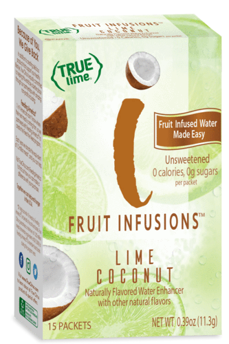 True Lemon Fruit Infusions Lime Coconut 15-Count