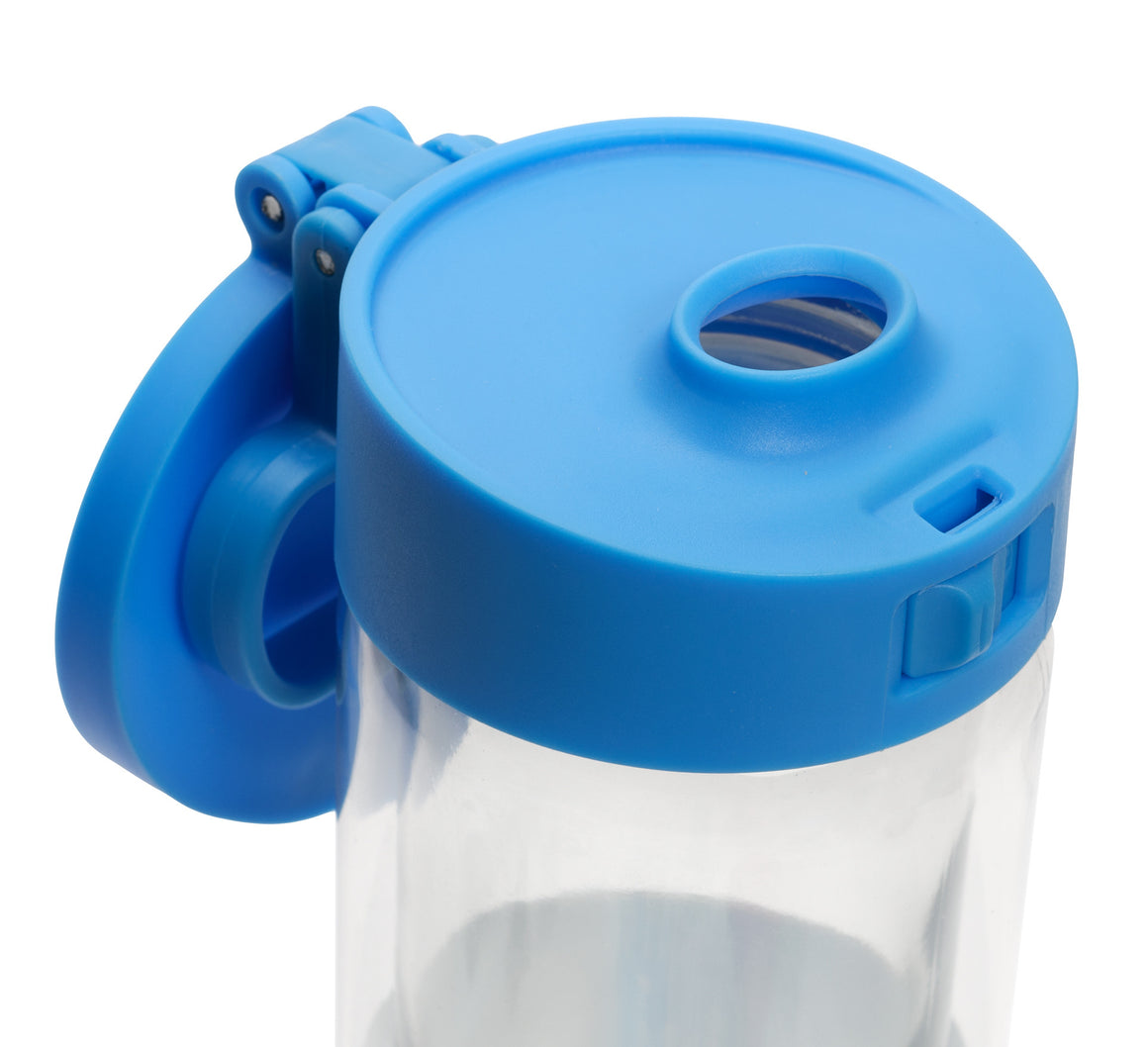 Glasstic Water Bottle Replacement Lid Cap Blue