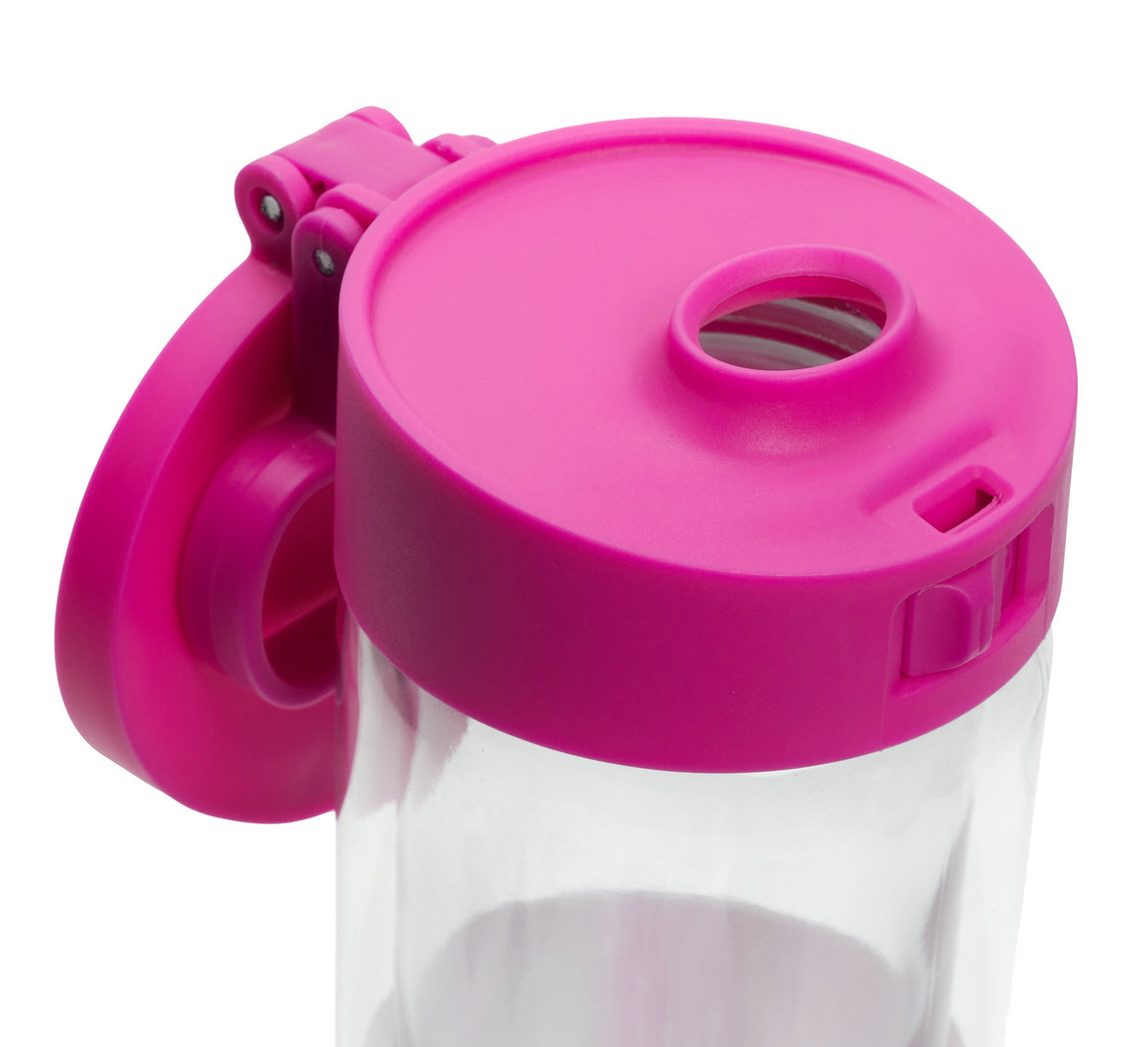 Glasstic Water Bottle Replacement Lid Cap Pink