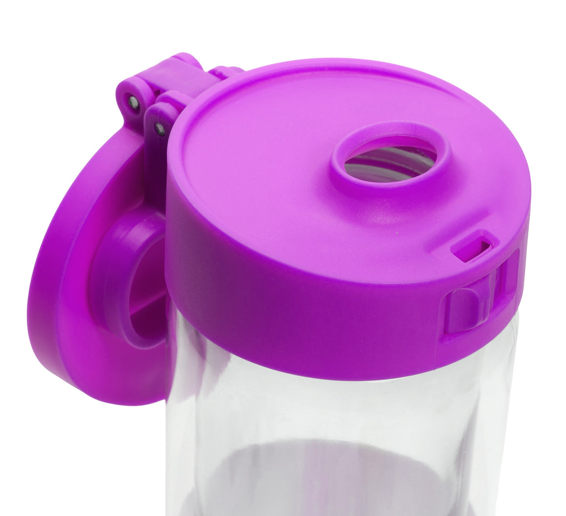 Glasstic Water Bottle Replacement Lid Cap Purple