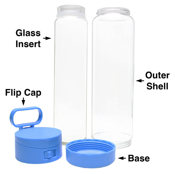 Glasstic Water Bottle Replacement Glass Inner Sleeve