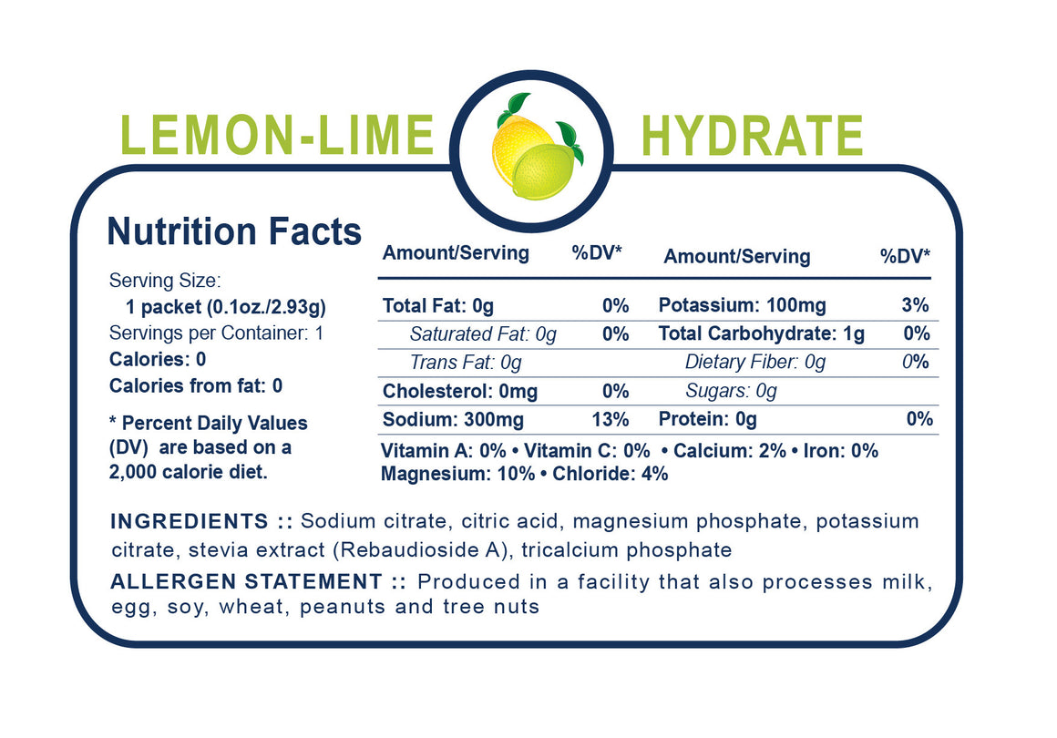 Generation UCAN Hydrate Sticks - Lemon Lime