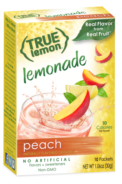 True Lemon Peach Lemonade 10-Count