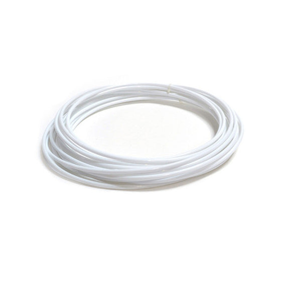 25' x 1/4″ Food Grade White Poly Tubing