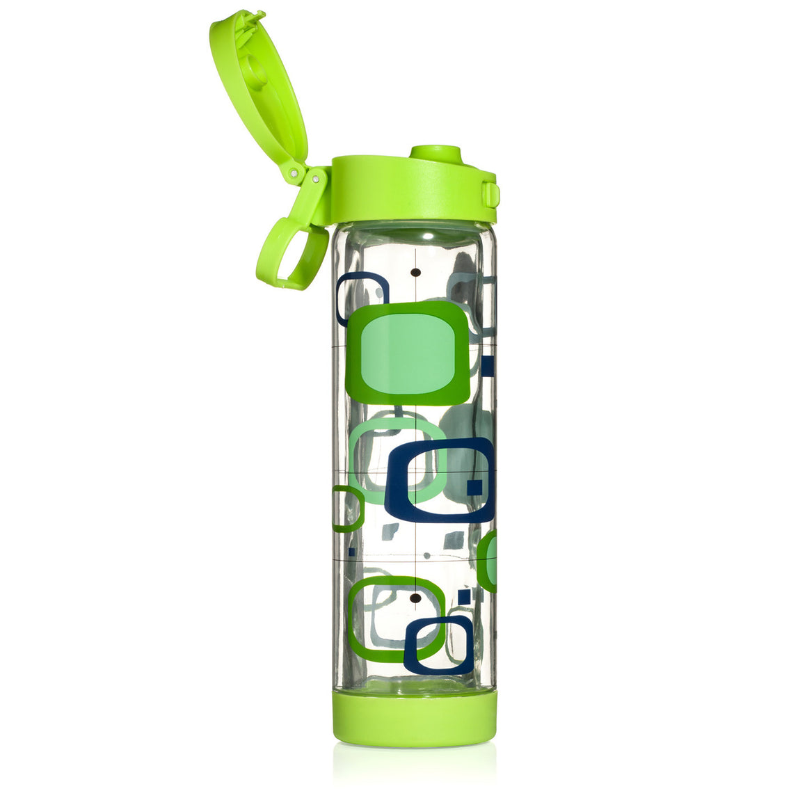 Glasstic Shatterproof Water Bottle Retro Green