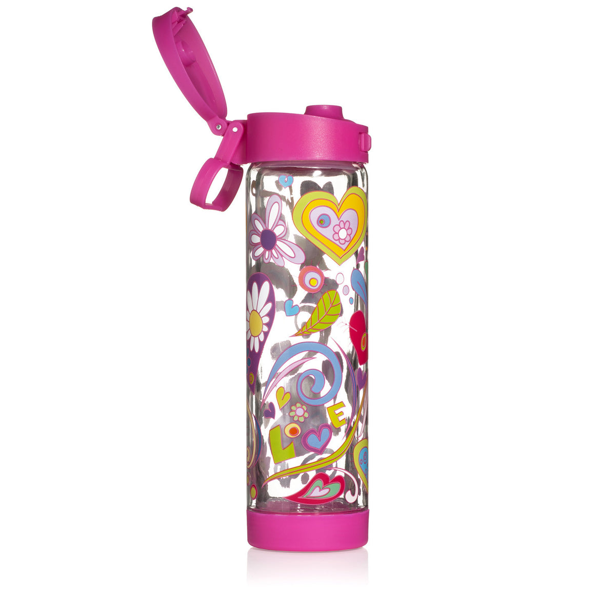 Glasstic Shatterproof Water Bottle Love