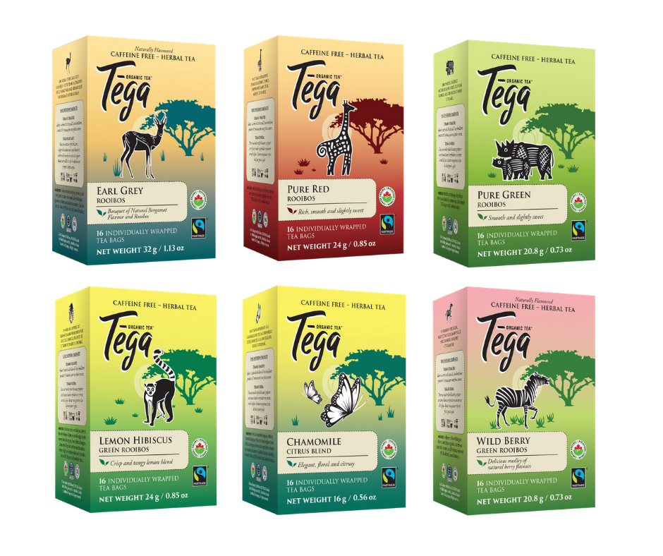 Tega Tea Organic Tea Gift Pack (6 x 16ct Boxes)