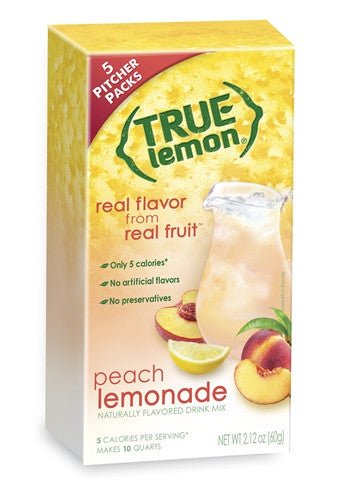 True Lemon Peach Lemonade 2 Litre 5-Count
