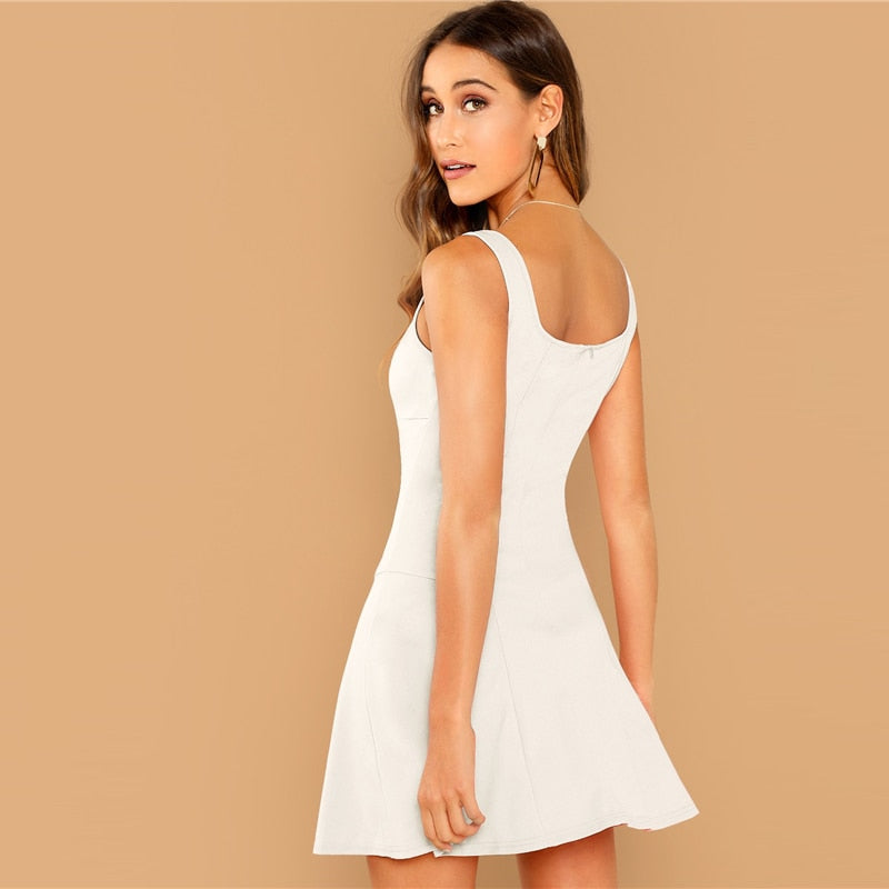Soho White Party Dress