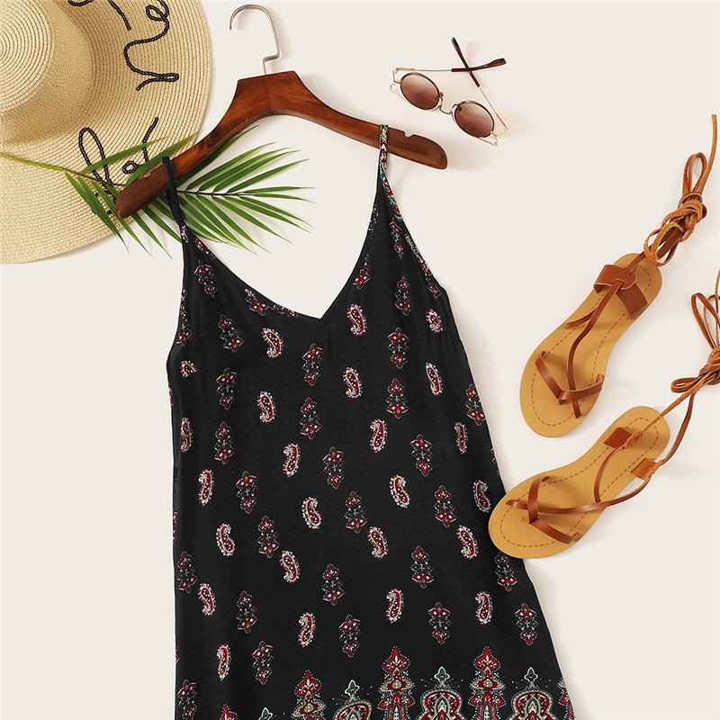 Sexy Tribal Boho Summer Dress