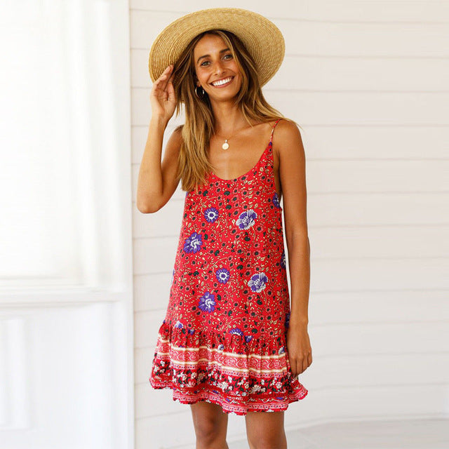 Bondi Summer Boho Mini Dress