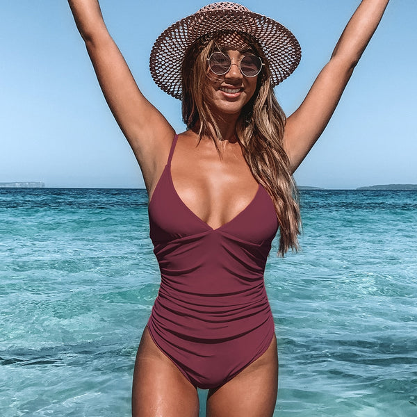 Burgundy Honululu One-Piece