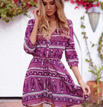 Bohemian Chic Floral Print Summer Dress