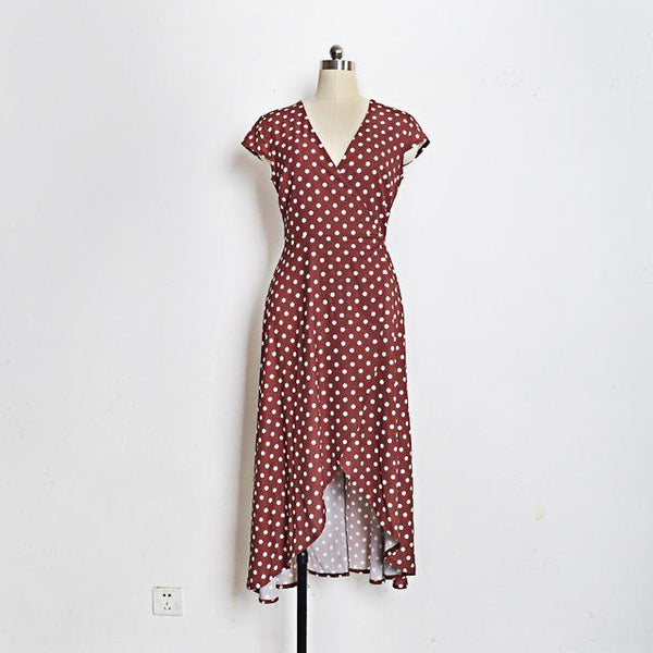Polka Dot Bohemian Summer Dress