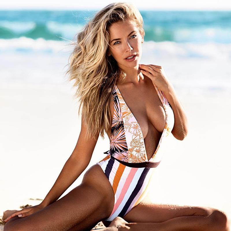 Timeless Deep V One Piece Swimsuit