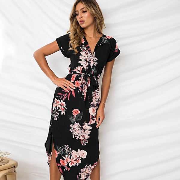 Sexy Boho Loose Summer Printed Dress